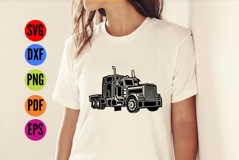 Truck, Lorry, HGV  SVG Cutting File  example image 2