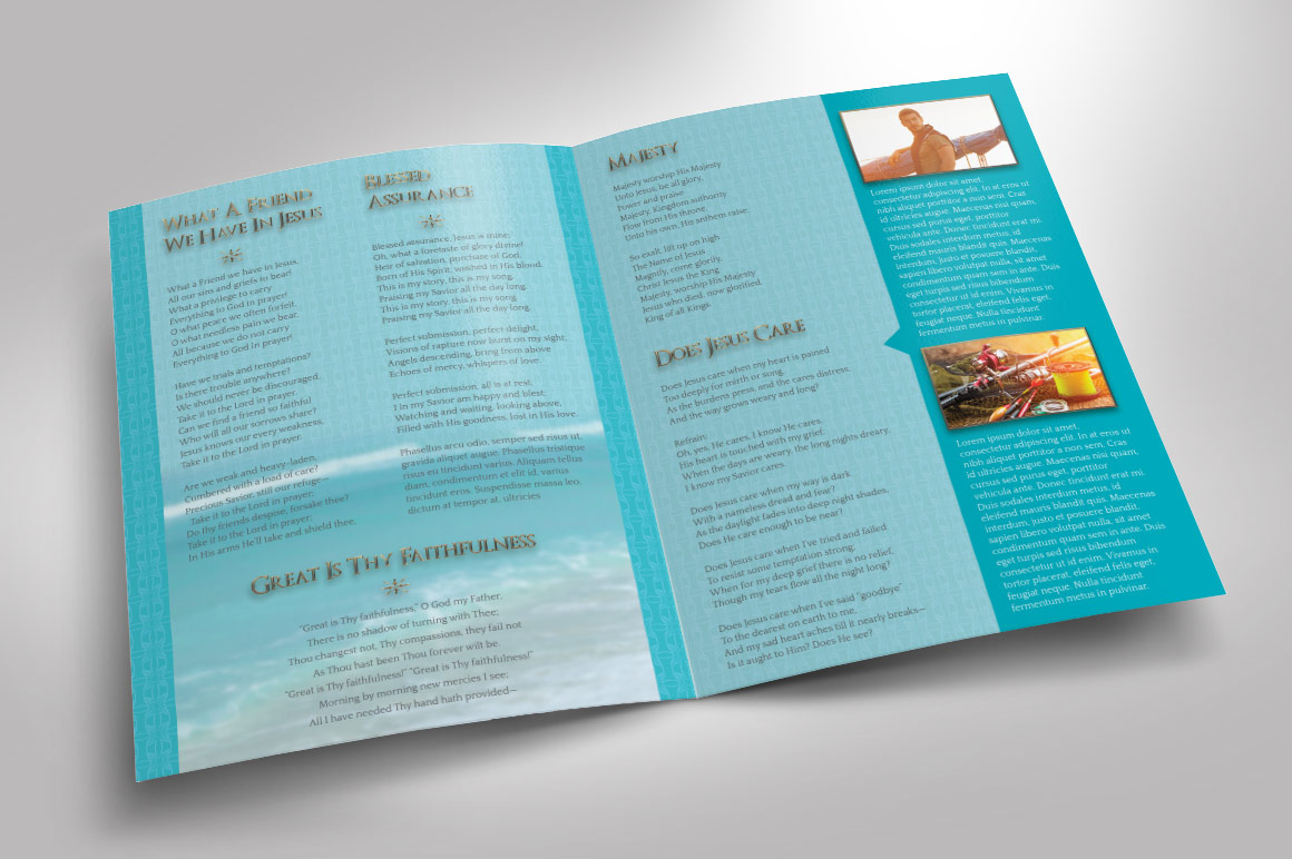 Oceanic Funeral Program Large Template - 8 Pages example image 4