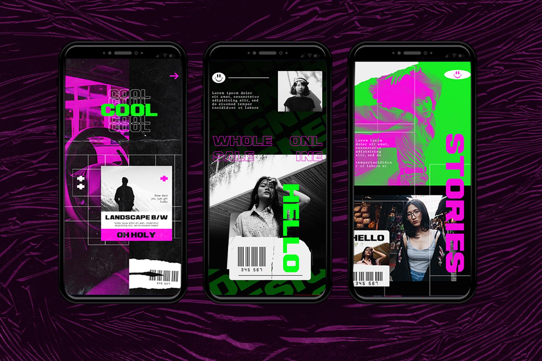 Neon Instagram Templates example image 8