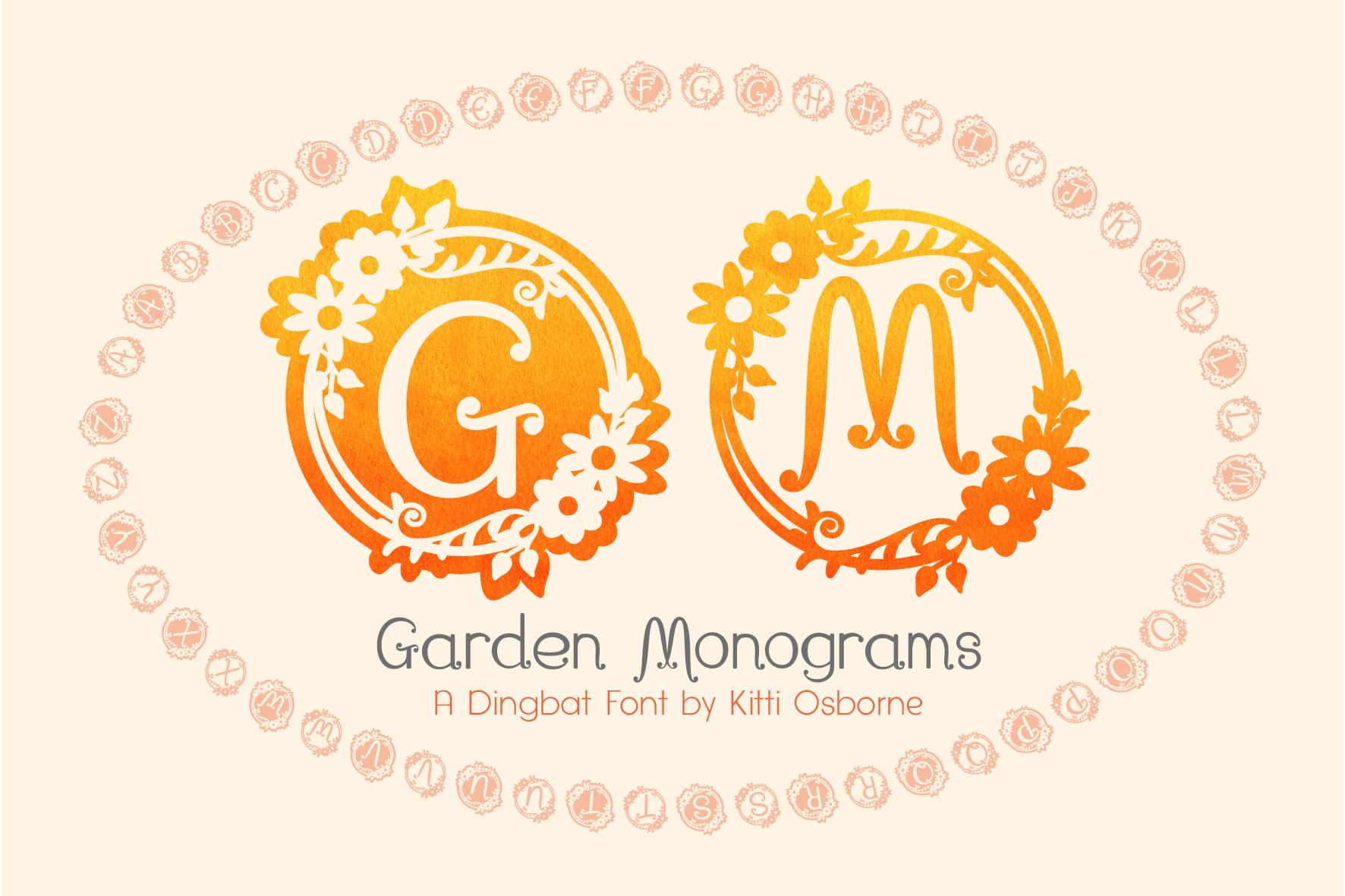 Garden Monograms example image 1