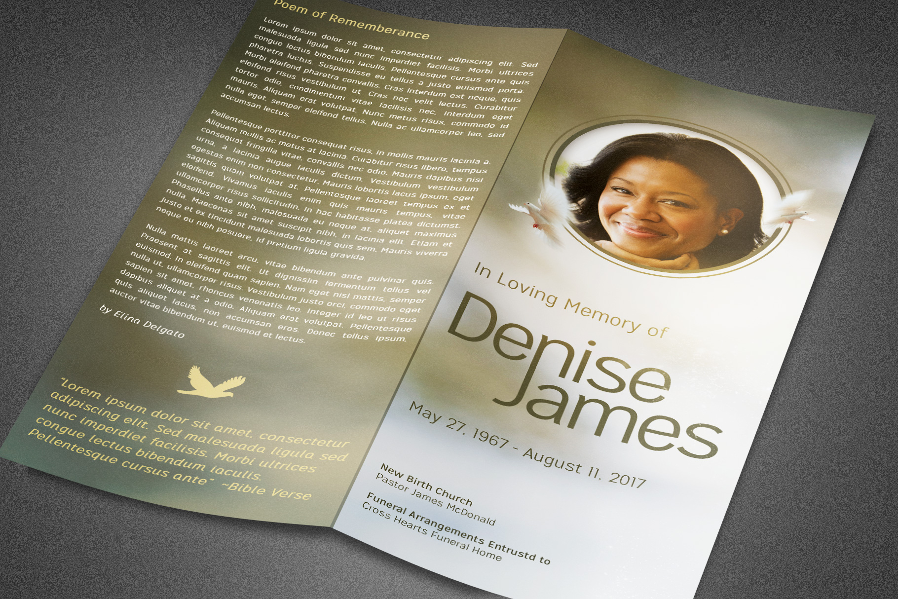 Essence of Love Funeral Program example image 5