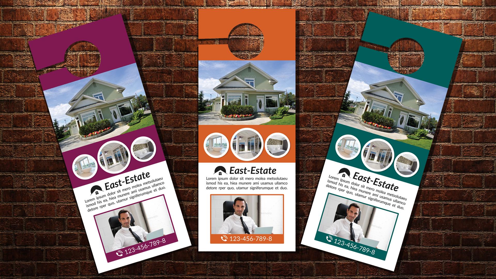 Real Estate Agency Door Hangers example image 3