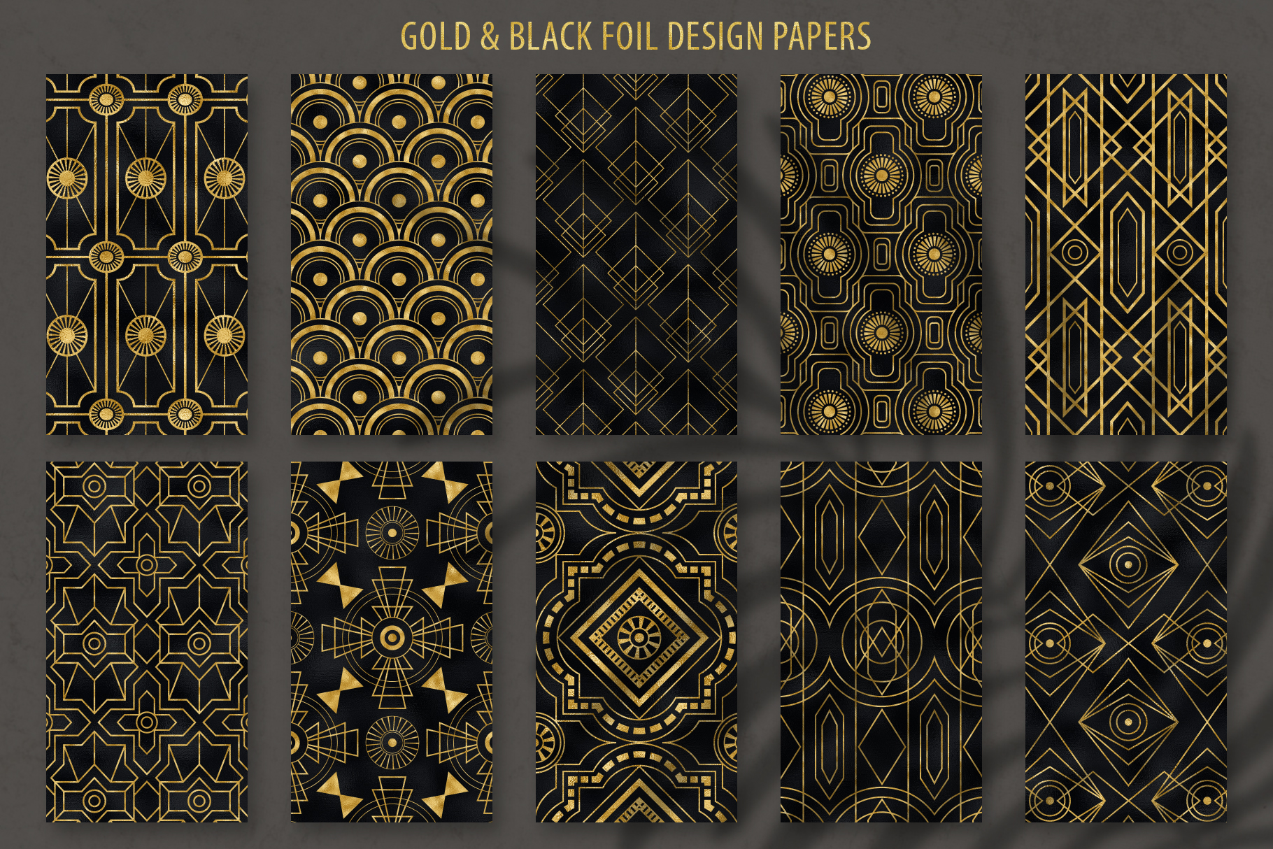 Geometric Art Deco Patterns - 20 Seamless Vector Patterns example image 18
