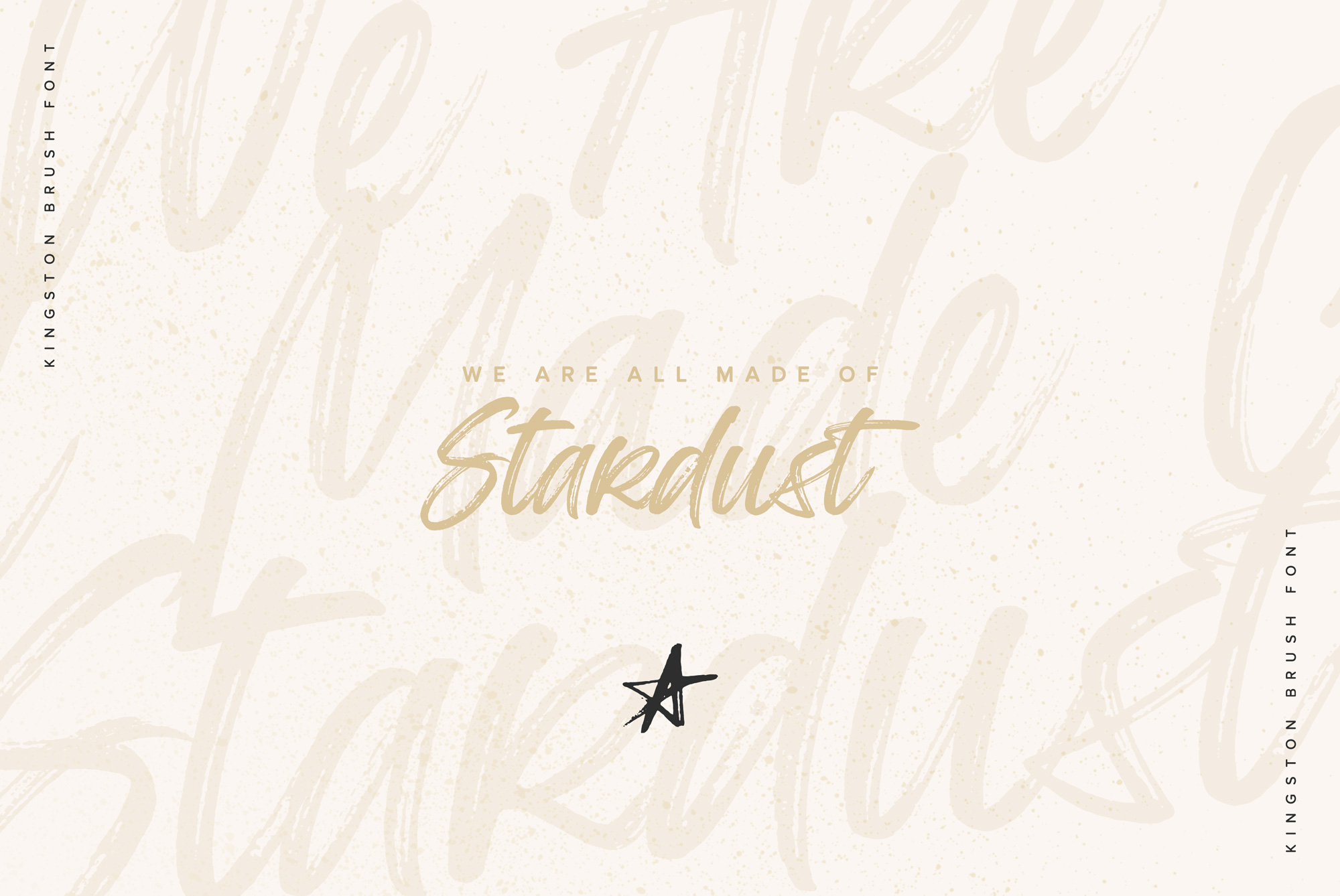 Kingston Handwritten Brush Font And Extras example image 4