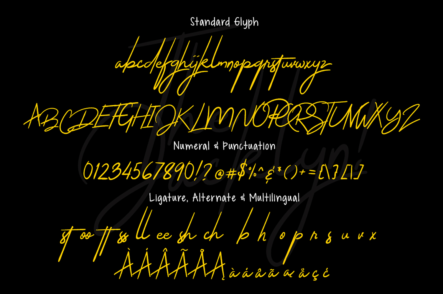 The Jacklyn Signature Font example image 7
