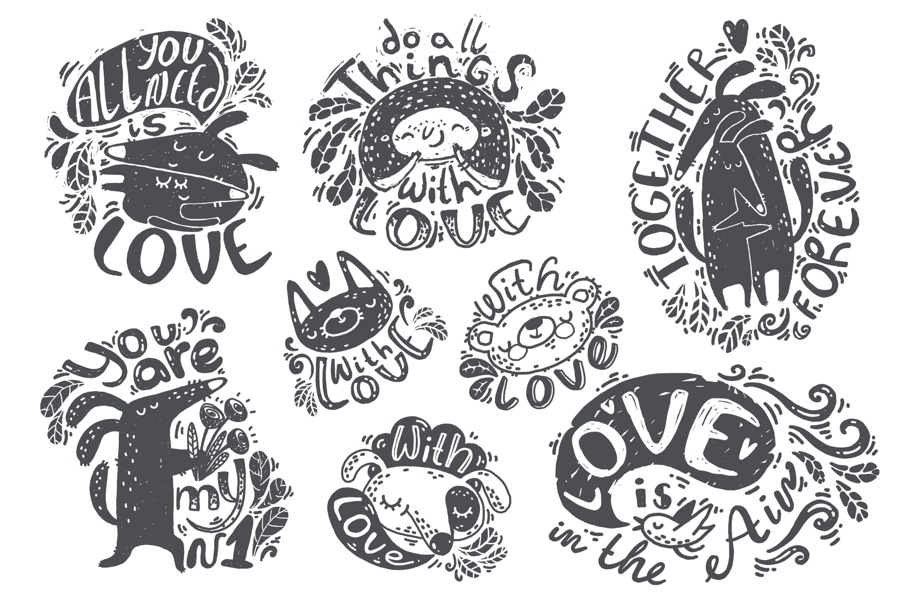 Hand drawn lettering bundle example image 6