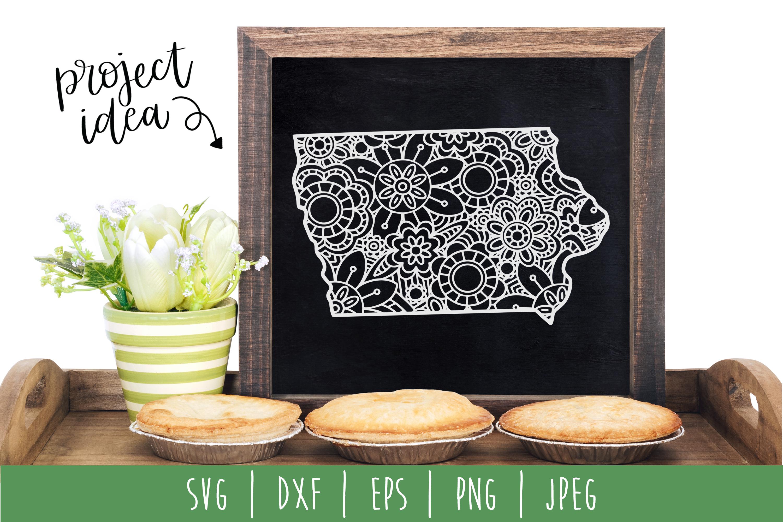 State Mandala Zentangle Bundle Set of 50 - USA SVG example image 19