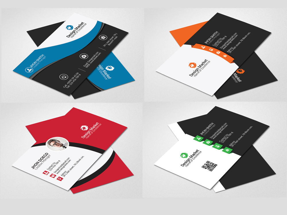 20 Vertical & Horizontal Business Cards Bundle example image 5