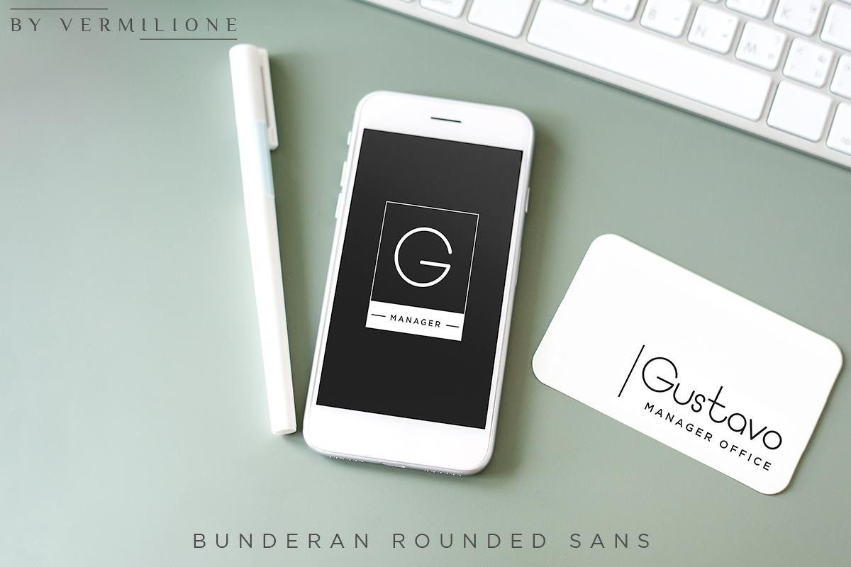 Bunderan Rounded Sans example image 9