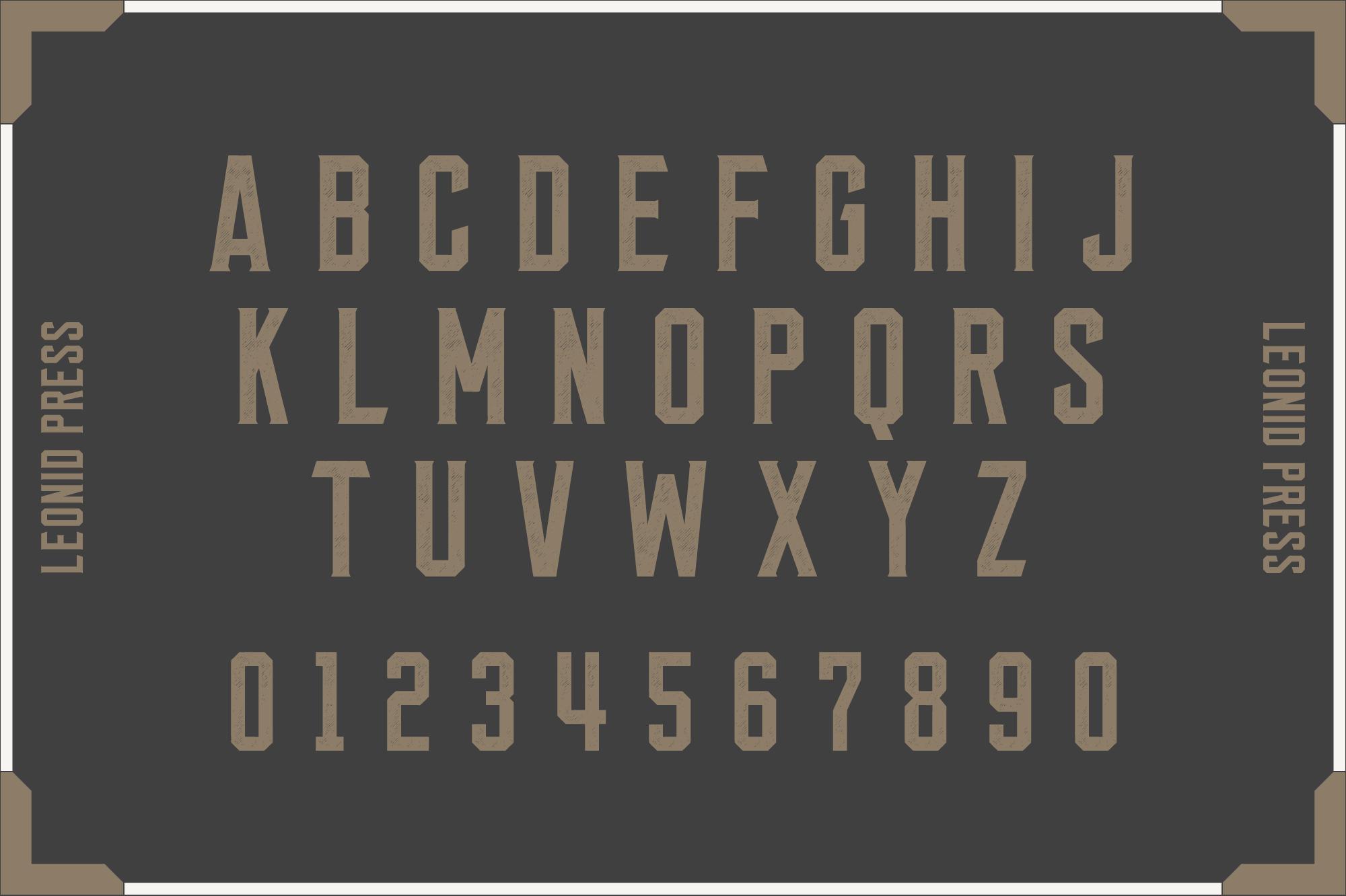 Leonid Retro Layered Font Pack example image 3