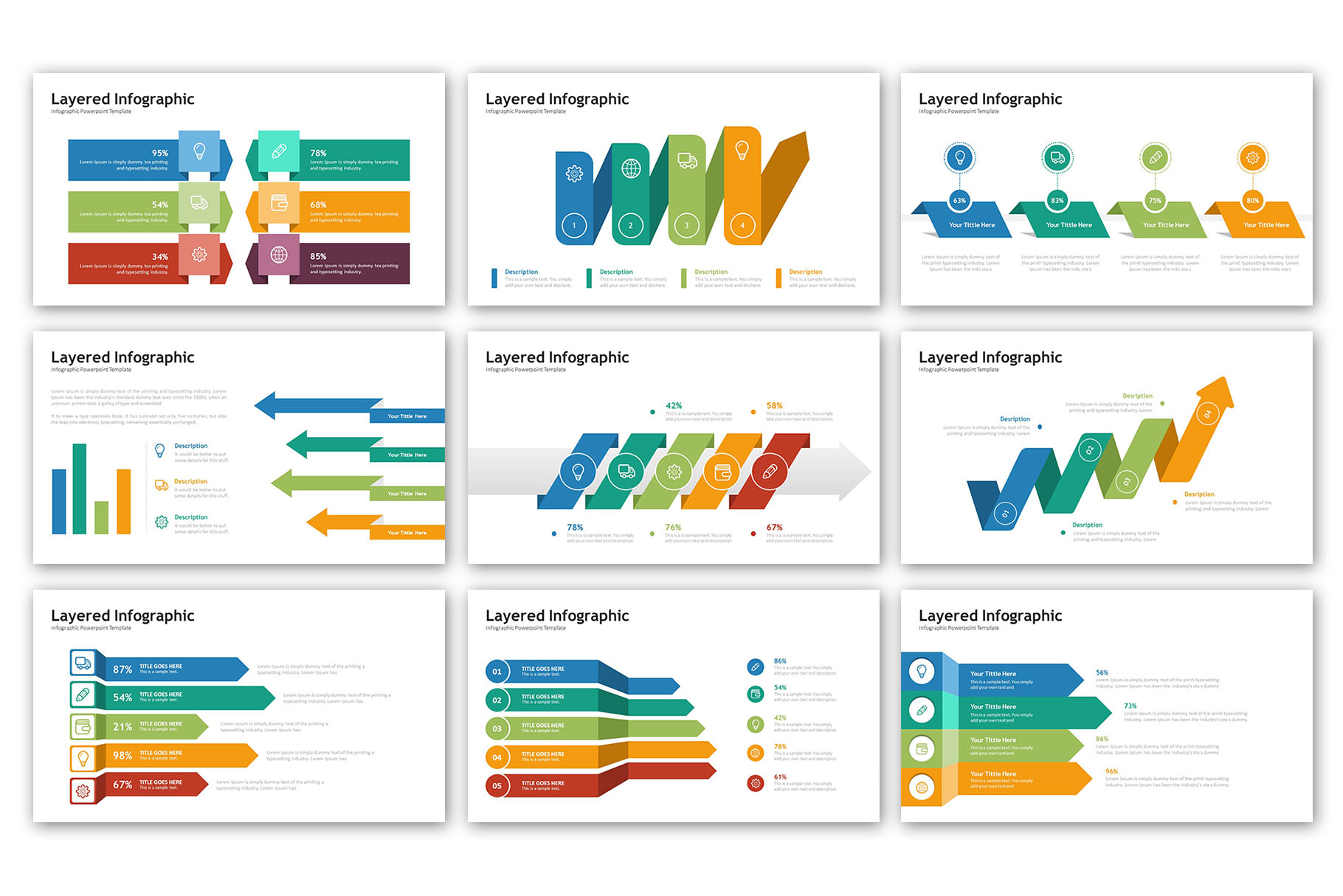 Layered Presentation - Infographic Template example image 6