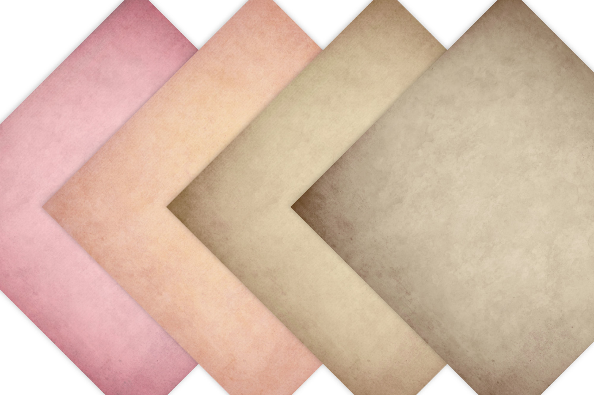 Vintage Paper Backgrounds - Textured Backgrounds in Shabby Chic Colors example image 4