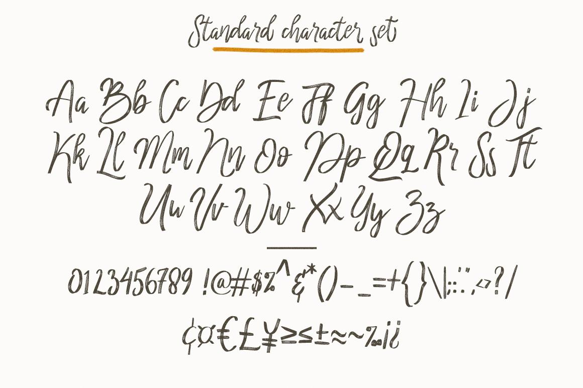 cherrio brush font example image 4
