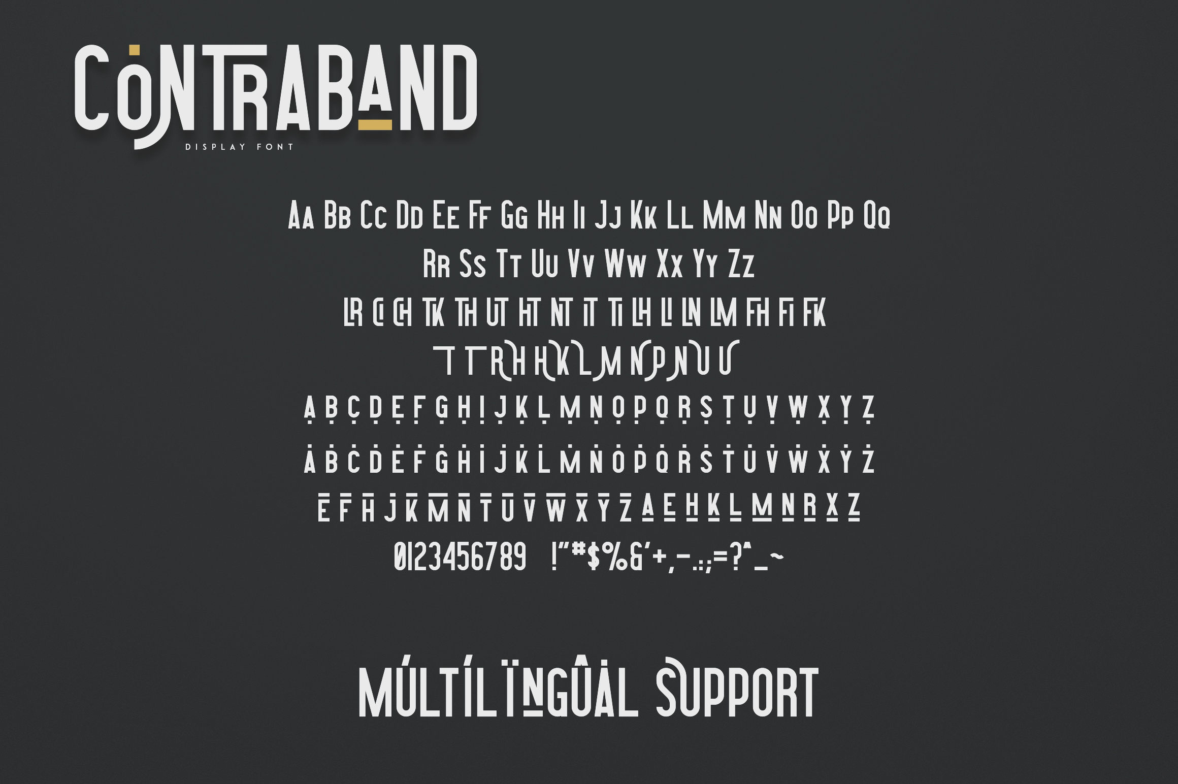 Highway Contraband - font duo More example image 10