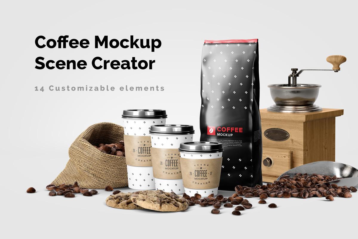Coffee Mockup Scene Creator example image 1