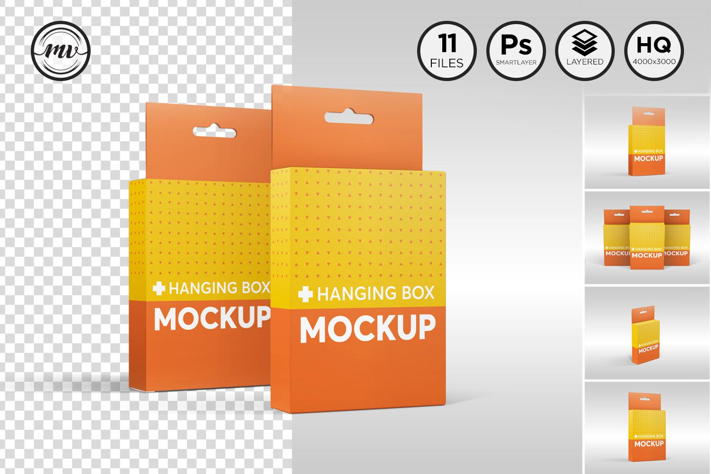 Flat Rectangle Box with Hanger Mockup example image 1