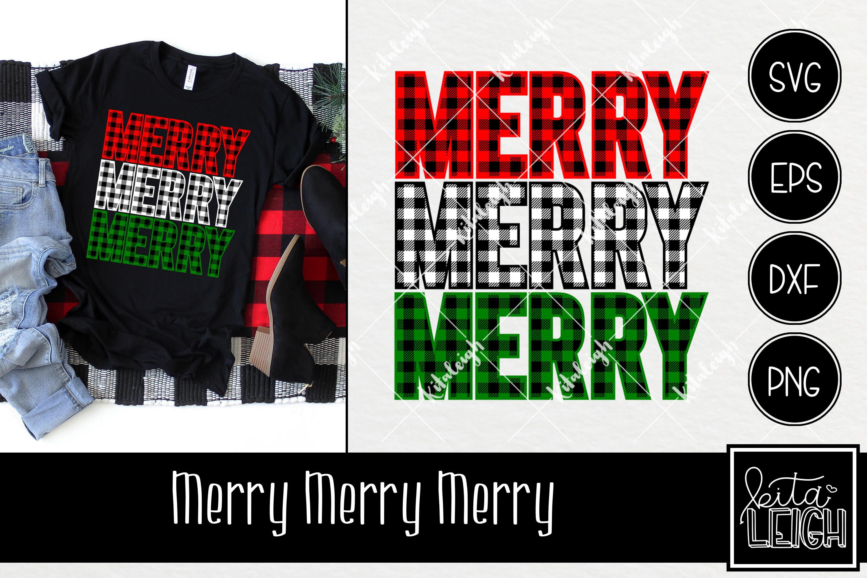 Buffalo Plaid Christmas Bundle SVG example image 3