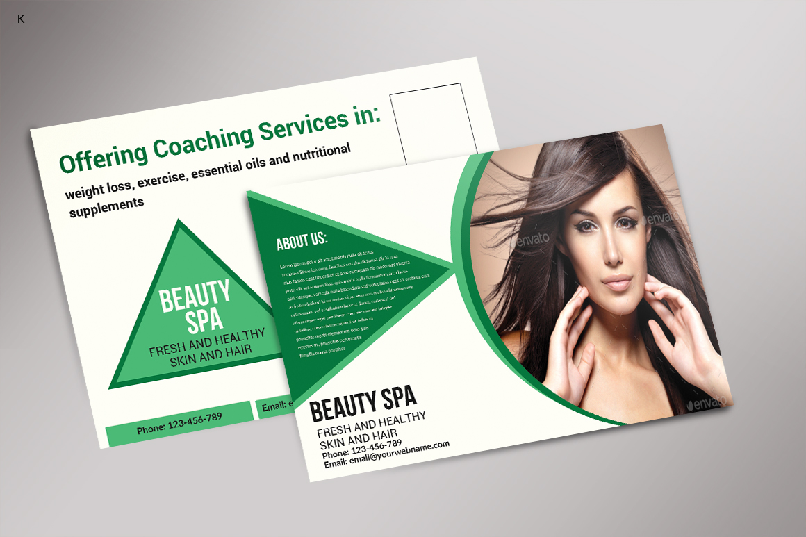 Beauty Spa Post Card example image 2