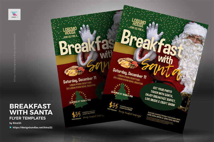 Breakfast With Santa Flyer Templates example image 2