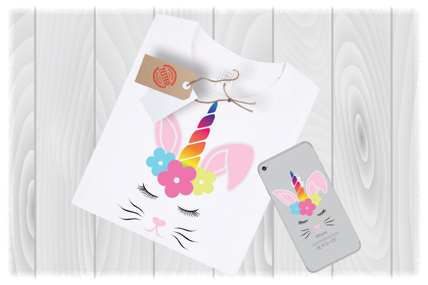 Unicorn Bunny Svg Files for Cricut Designs, Unicorn Head Svg example image 1