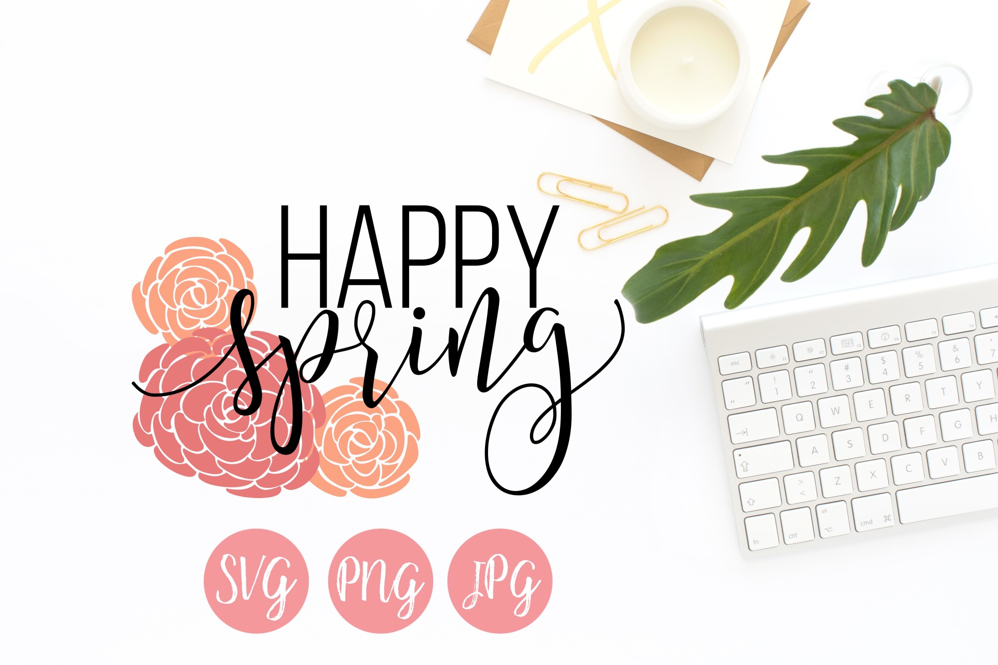 Happy Spring SVG, PNG, JPEG example image 1