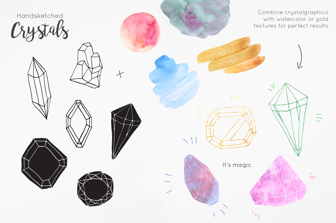 Handsketched Gemstones and Crystals example image 5