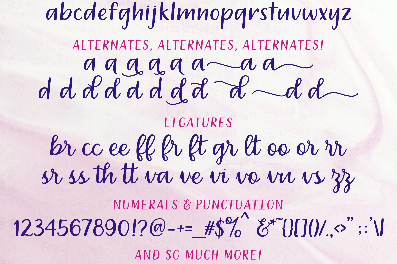 Dreamery Script and Sans Handwritten Feminine Font Trio example image 3