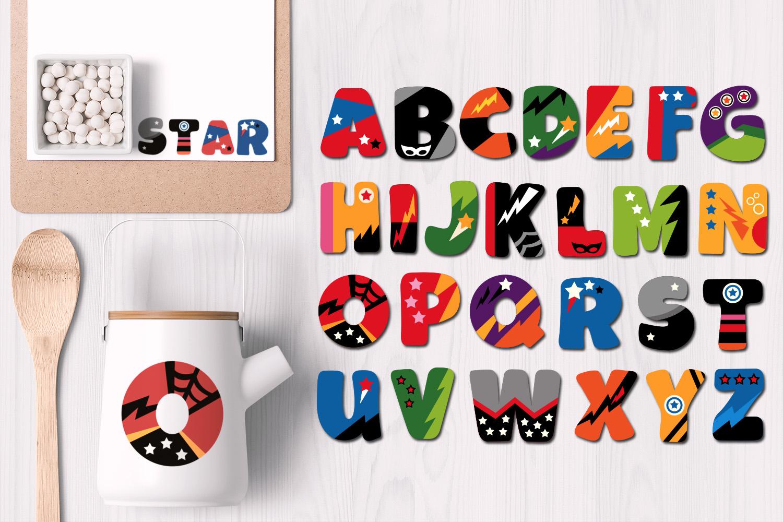Superhero Alphabet Graphics Uppercase example image 3