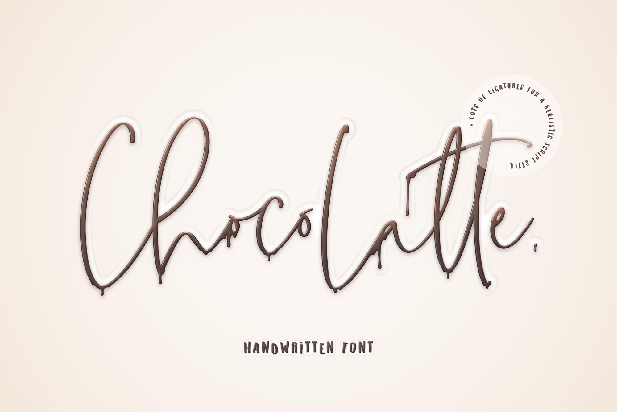 ChocoLatte Handwritten Script Font example image 1