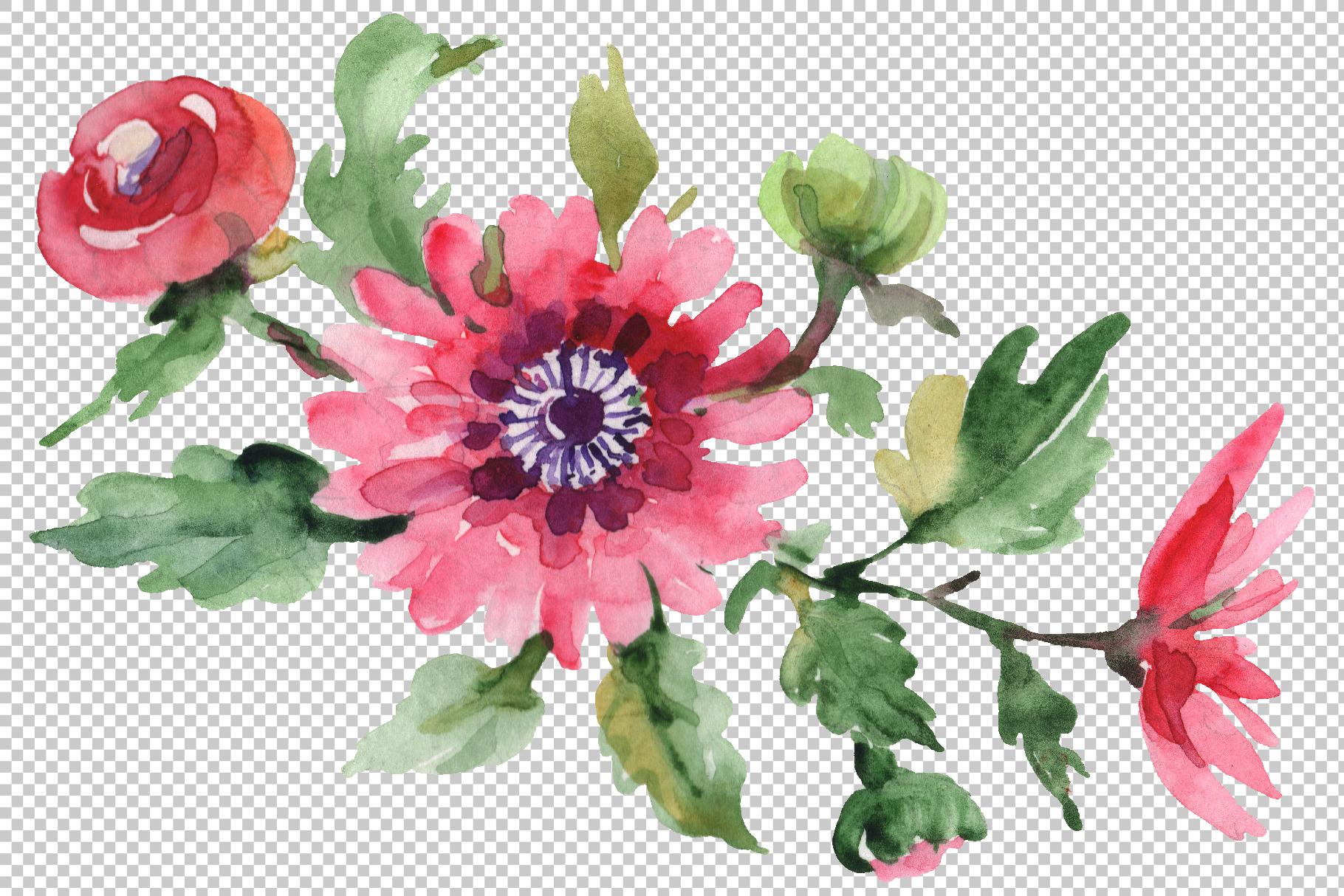 Bouquet April sun Watercolor png example image 4