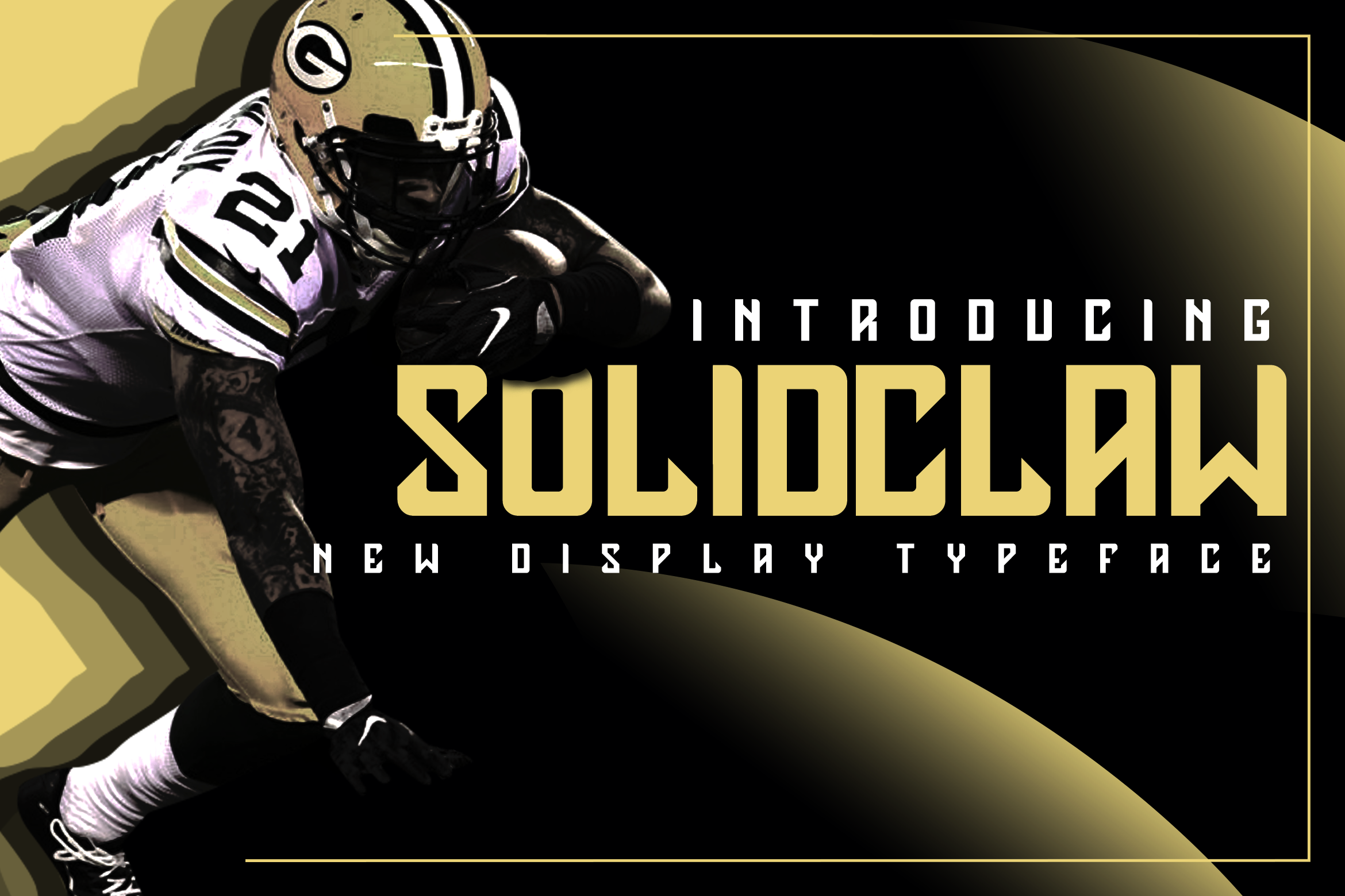 Solidclaw Display font example image 1