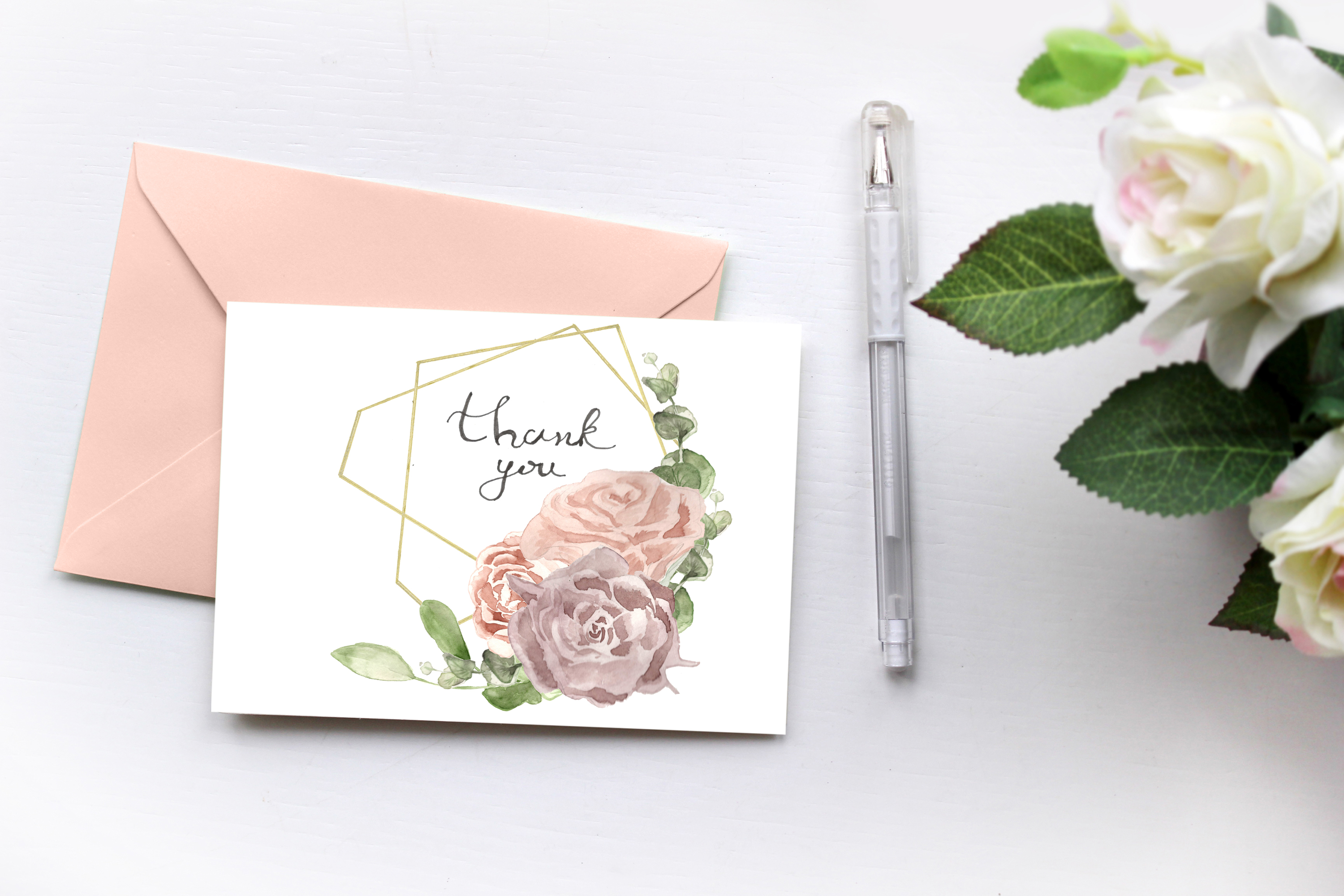 Template for printing labels in boho watercolor style example image 2