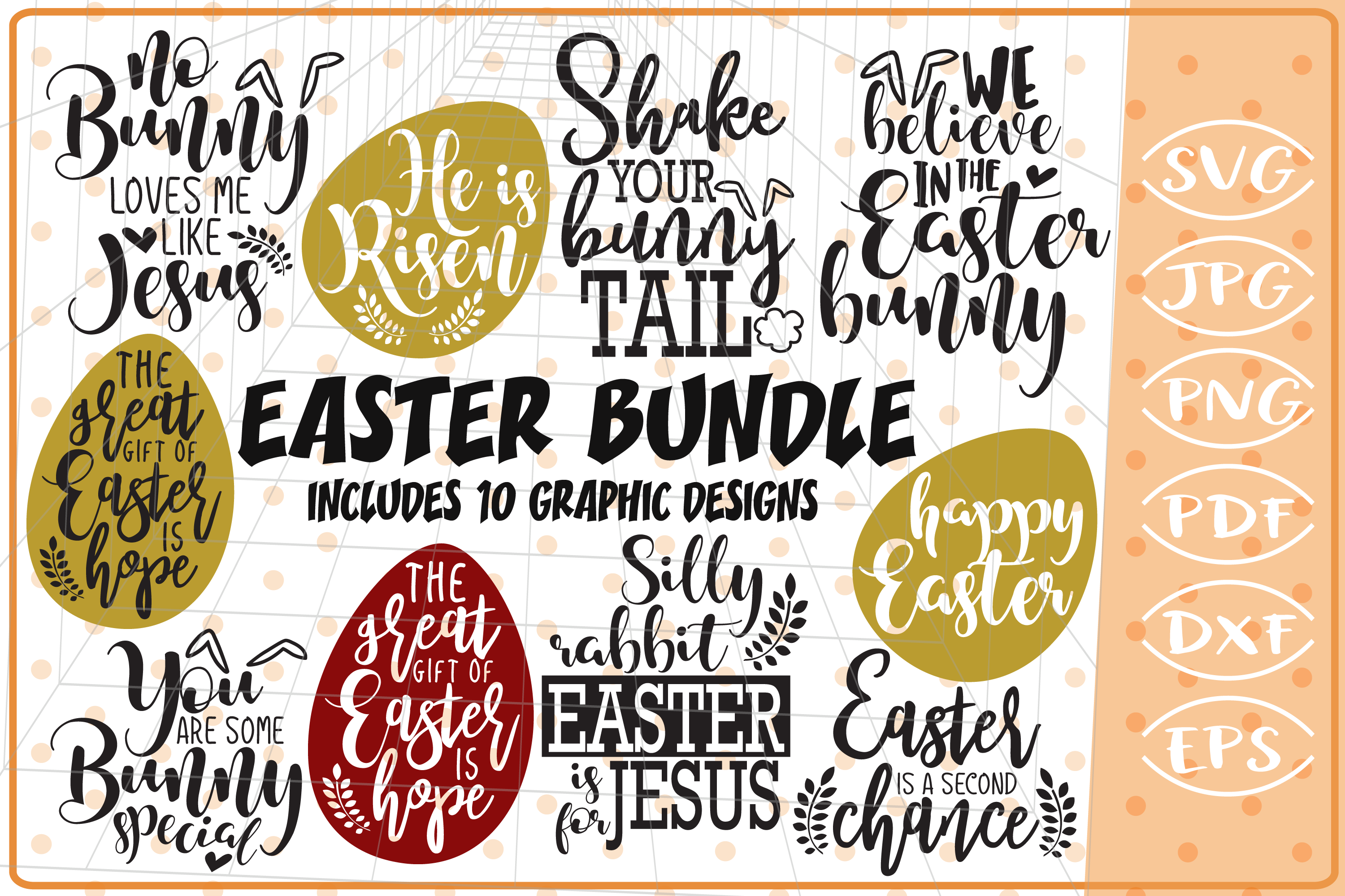 Easter Bundle SVG Cutting Files example image 1