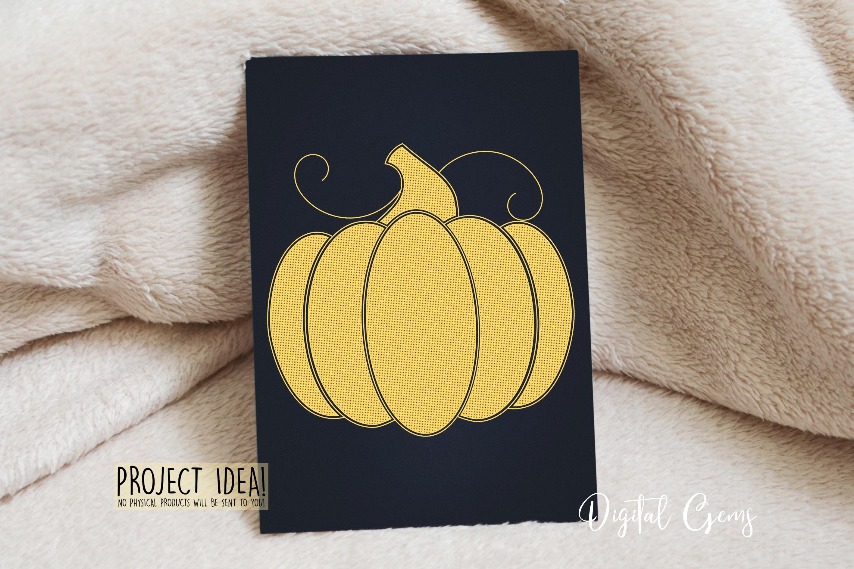 Pumpkin, single line sketch file / foil quill file. example image 3