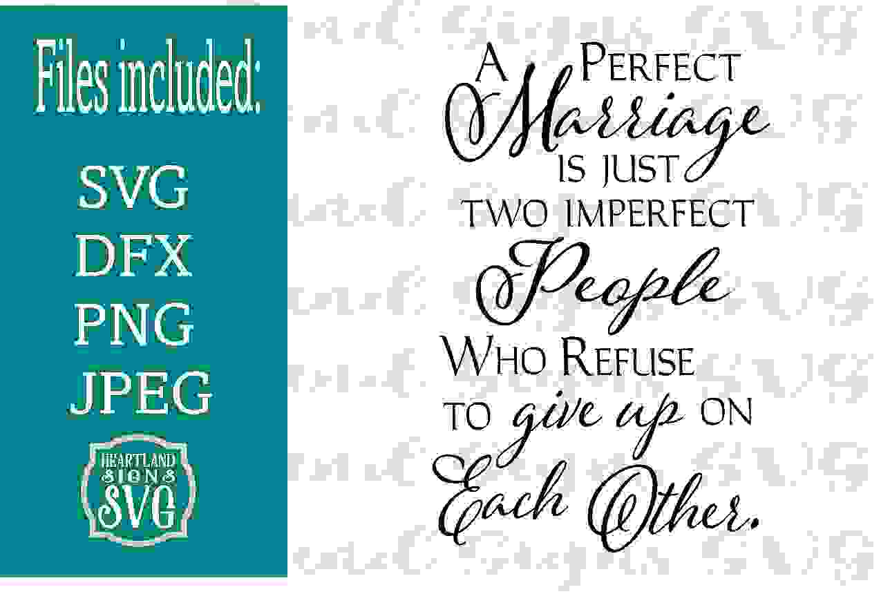A Perfect Marriage SVG example image 1