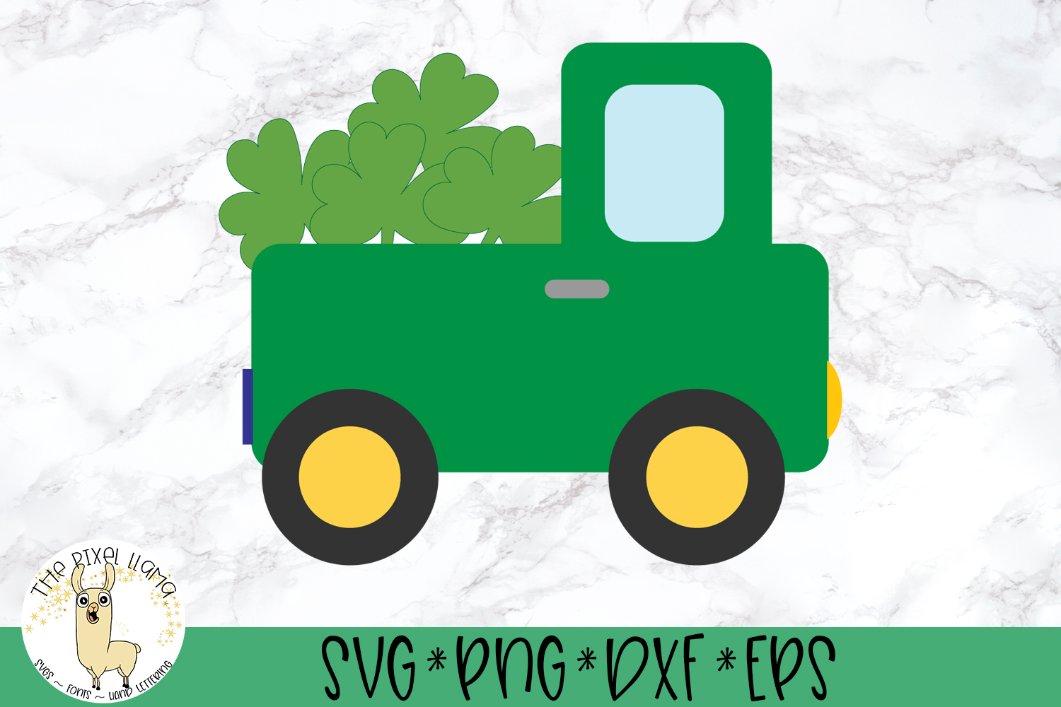 St Patrick's Lucky Truck SVG Cut File example image 2