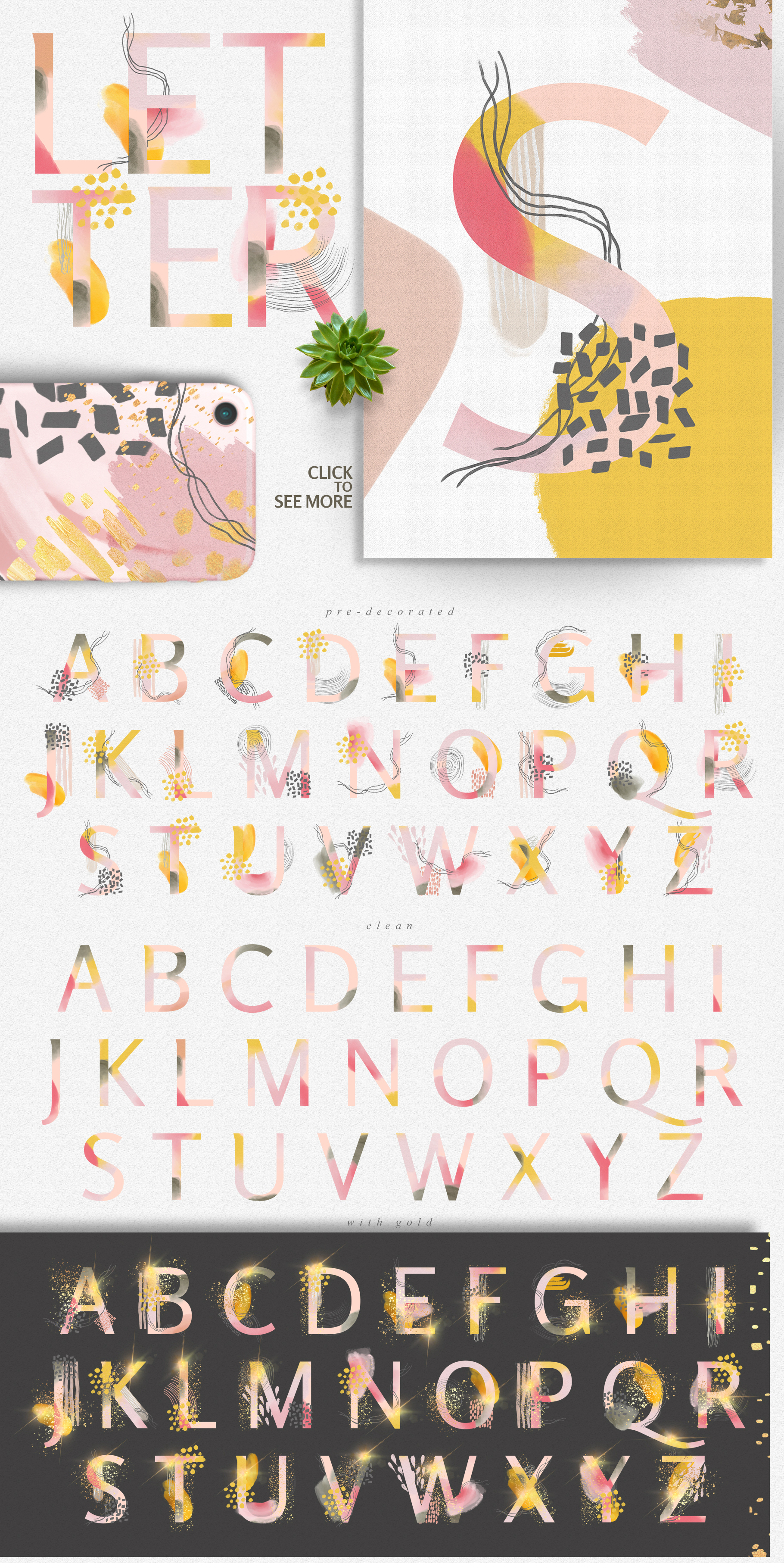 Colorful Mess & Gold Vol.2 example image 8