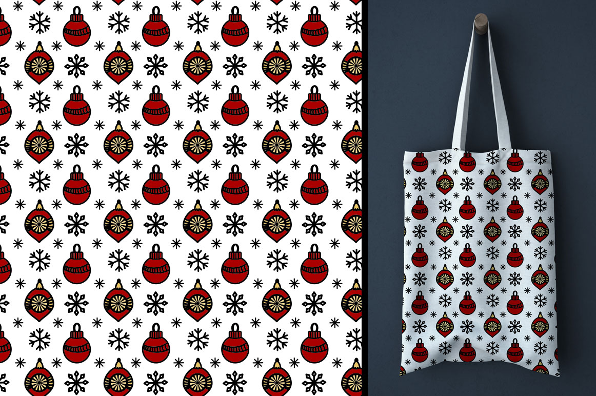 Christmas Seamless Patterns example image 5