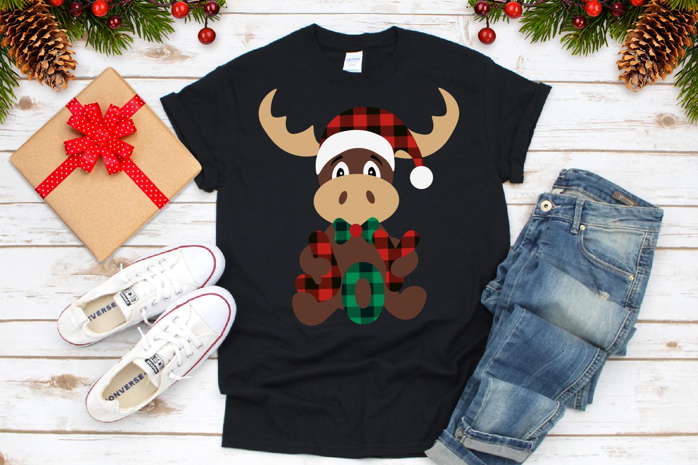 Reindeer Buffalo Plaid Svg, Christmas Joy Svg example image 3