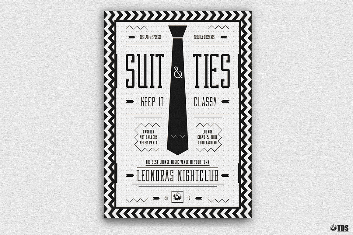 Suit and Tie Flyer Template V3 example image 5