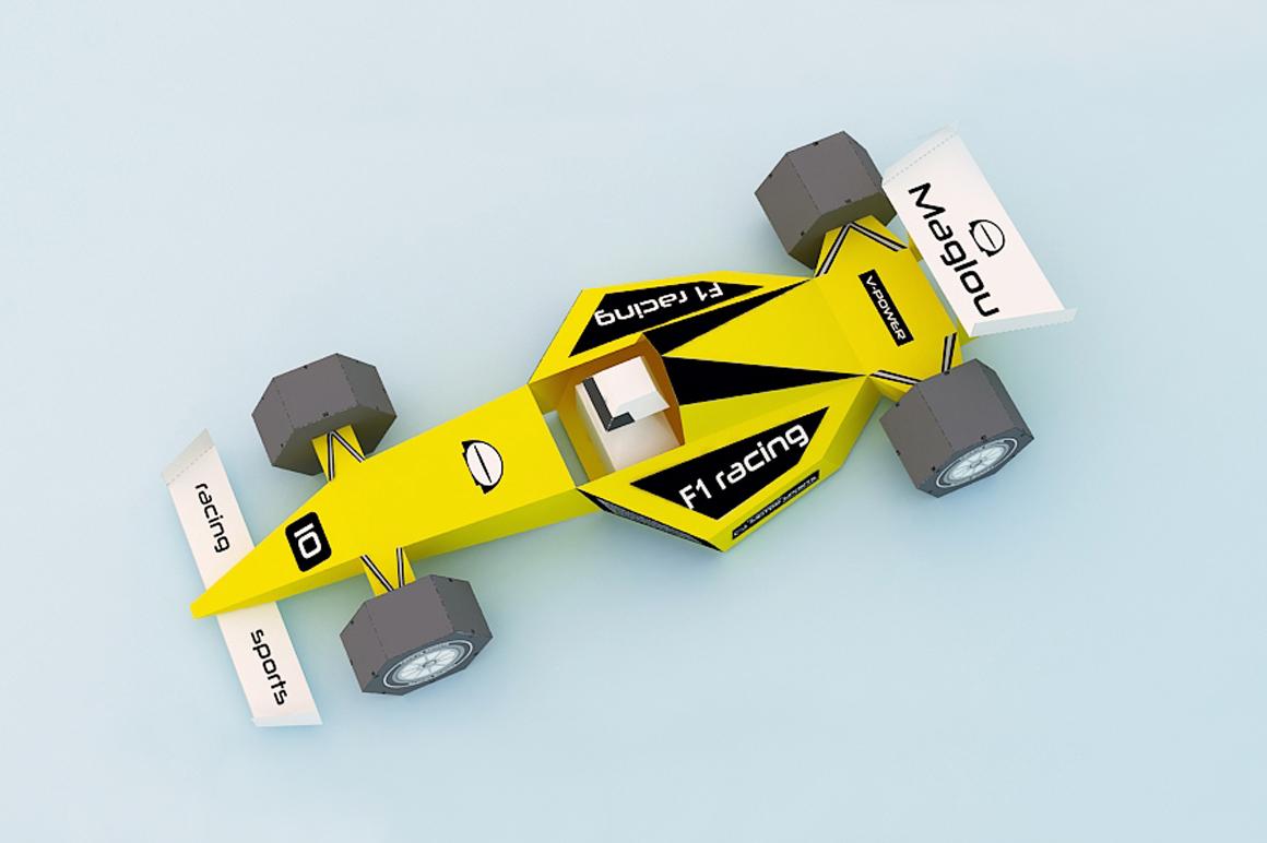 DIY F1 Car - 3d papercraft example image 2