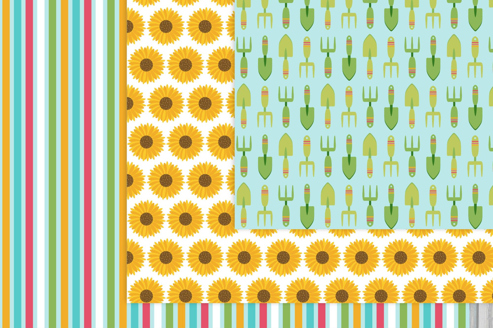 Sunflower Digital Paper example image 2
