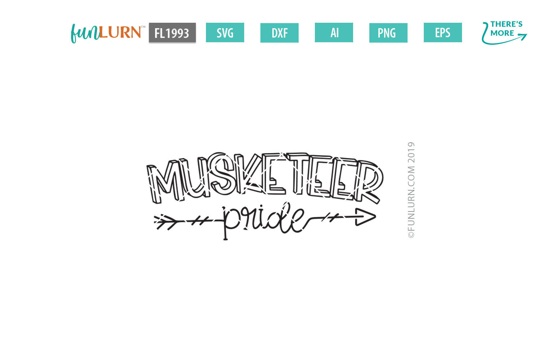 Musketeer Pride Team SVG Cut File example image 2