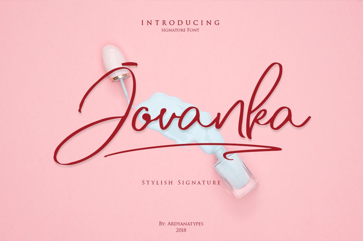 Jovanka Script Font example image 1