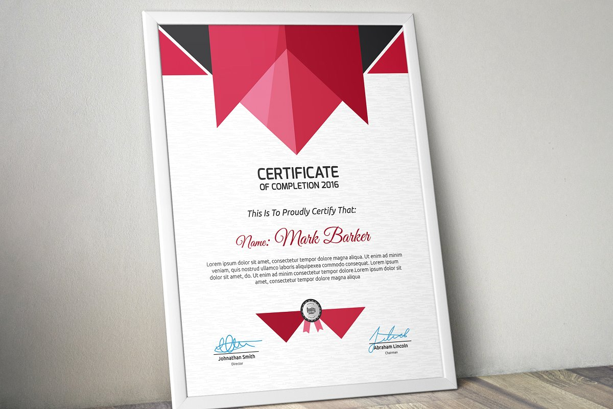 Certificate example image 3