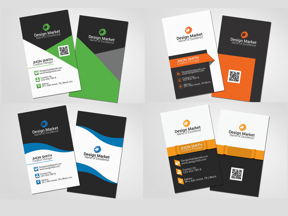 20 Vertical & Horizontal Business Cards Bundle example image 4