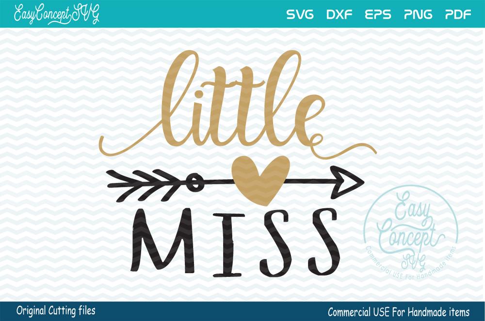 Little Miss SVG file, SVG - DXF - PNG - EPS - PDF Original Cut files example image 2