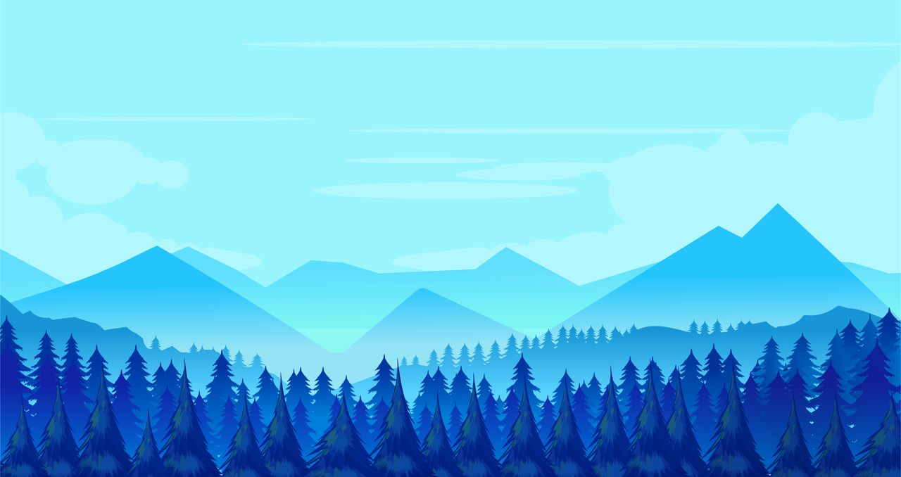 Winter mountains landscape with pine forest on foreground example image 2