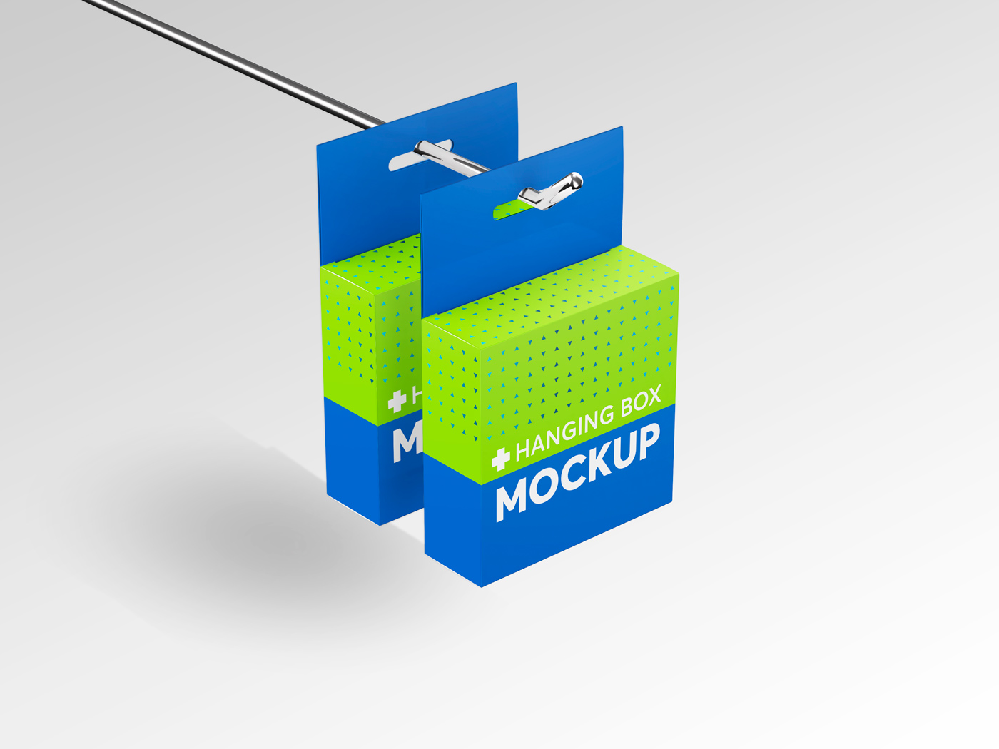 Flat Square Box with Hanger Mockup example image 3