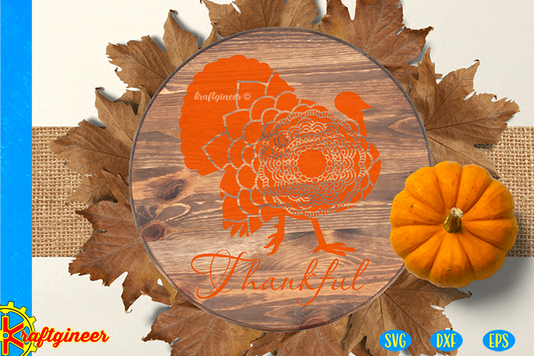 Mandala Turkey SVG | Single Line SVG |Foil Quill example image 3